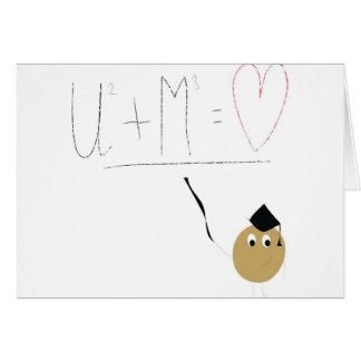 U + Me = love Greeting Cards