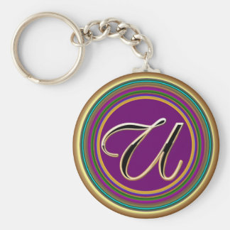 U monogramme mascarade From Party Time Creatives Keychains