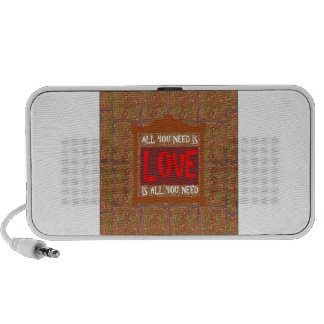 U need LOVE Template Reseller Customer QUOTE GIFTS iPhone Speaker