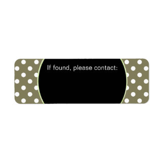 U-pick Background Color/ Classic White Polka Dots