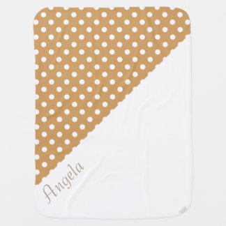 U-pick Background Color/ Classic White Polka Dots Pramblankets