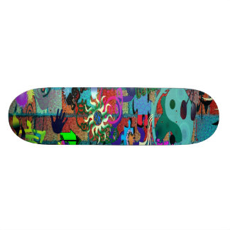 U-pick Background/ Graffiti Art on Brick Wall 21.6 Cm Old School Skateboard Deck
