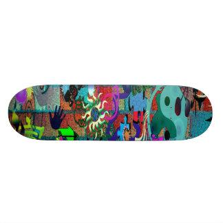 U-pick Background/ Graffiti Art on Brick Wall 21.6 Cm Old School Skateboard Deck