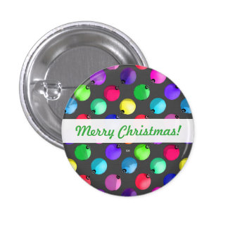 U Pick Color/ Antique Christmas Tree Ornaments 3 Cm Round Badge
