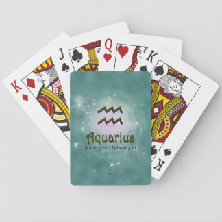 U Pick Color/ Aquarius Zodiac Sign Playing Cards
