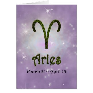 U Pick Color/ Aries Happy Birthday Greeting Card