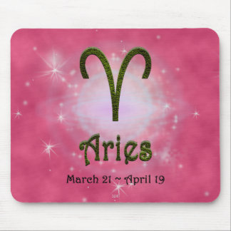 U Pick Color/ Aries Zodiac Sign Mouse Mat