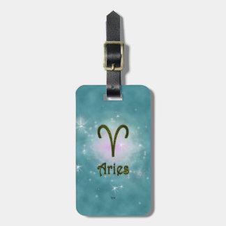 U Pick Color/ Aries Zodiac Sign Personalize Bag Tags