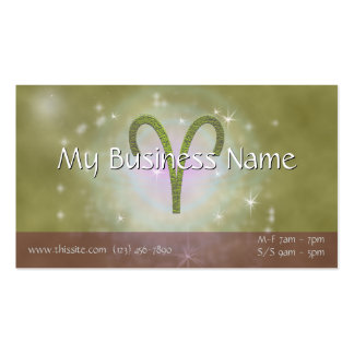 U Pick Color/ Aries Zodiac Sign Personalize Pack Of Standard Business Cards