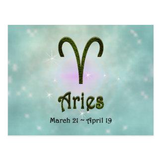 U Pick Color/ Aries Zodiac Sign Postcard