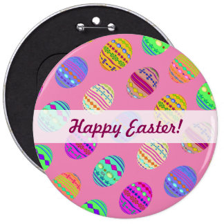 U-pick Color/ Bedazzled Easter Eggs w/ Rhinestones 6 Cm Round Badge