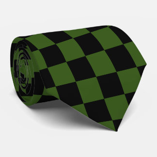 U-pick Color Black Checkered Tiles Tie