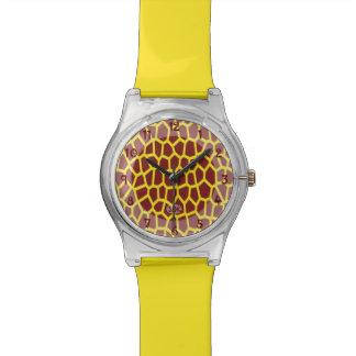 U pick Color/ Brown Giraffe Print in Mosaic Tile Watch