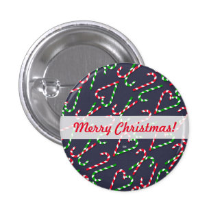 U Pick Color/ Christmas Holiday Candy Canes 3 Cm Round Badge