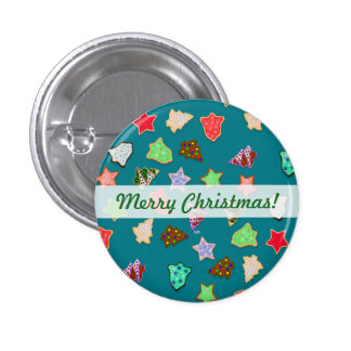 U Pick Color/ Christmas Holiday Cookies 3 Cm Round Badge