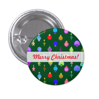 U Pick Color/ Crystal Christmas Tree Ornaments 3 Cm Round Badge