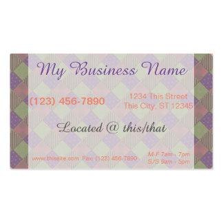U Pick Color/ Garden Lattice Shimmery Velvet Quilt Pack Of Standard Business Cards
