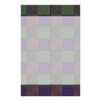 U Pick Color/ Garden Lattice Shimmery Velvet Quilt Personalised Stationery