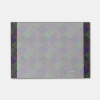 U Pick Color/ Garden Lattice Shimmery Velvet Quilt Post-it Notes