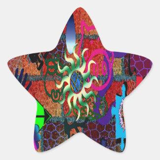 U-pick Color/ Graffiti Art Envelope Seal Star Sticker