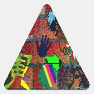 U-pick Color Graffiti Art Envelope Seal Triangle Stickers