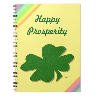 U-pick Color/ Green Good Luck Irish 4 Leaf Clover Notebook