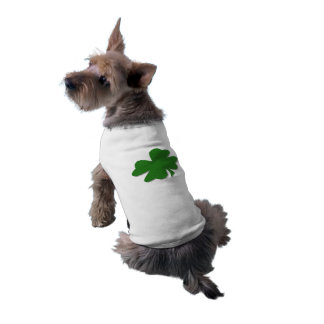 U-pick Color/ Green Good Luck Irish 4 Leaf Clover Sleeveless Dog Shirt