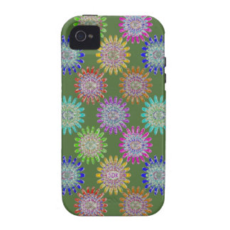 U pick Color/ Hand Blown Glass Crystal Flowers Case-Mate iPhone 4 Cases