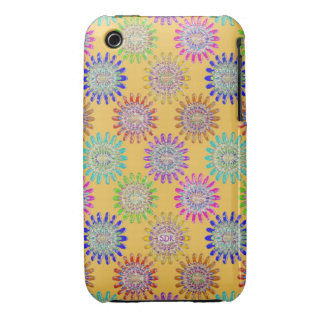 U pick Color/ Hand Blown Glass Crystal Flowers Case-Mate iPhone 3 Case