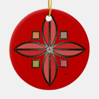 U-pick Color/ Iron Celtic Good Fortune Flower Round Ceramic Decoration