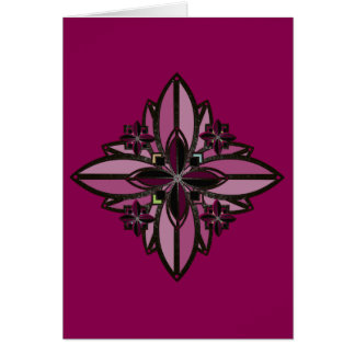 U-pick Color/ Iron Celtic Good Fortune Flower II Note Card