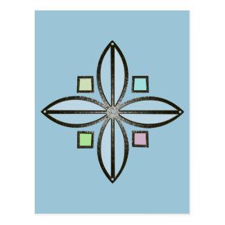 U-pick Color/ Iron Celtic Good Fortune Flower Postcard
