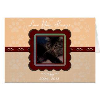 U Pick Color/Personalized Pet Memorial Greeting Card