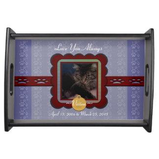 U Pick Color/Personalized Pet Memorial Serving Platter