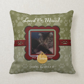 U Pick Color/Personalized Pet Memorial Throw Cushion