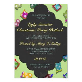 U Pick Color/Potholder Blackboard Chalk Snowflakes 13 Cm X 18 Cm Invitation Card