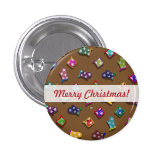 U Pick Color/ Potholder Oven Mitts with Snowflakes 3 Cm Round Badge