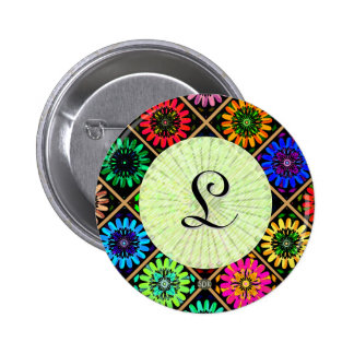 U Pick Color/ Radiant Scrapbook Flowers on Display 6 Cm Round Badge
