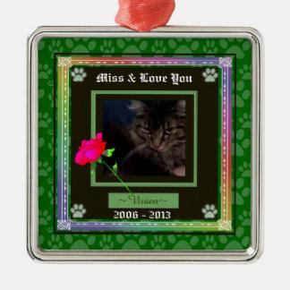 U Pick Color/Rainbow Personalized Pet Memorial Christmas Ornament