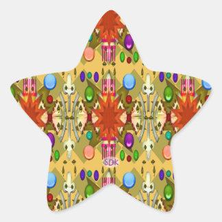U-pick Color/Renaissance Party Cathedral Celebrate Star Sticker