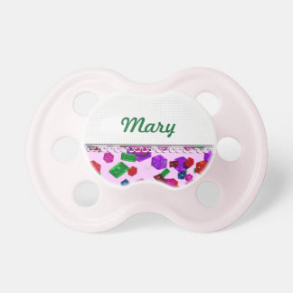 U pick Color/ Royal Birthstone Jewels & Gems Baby Pacifiers