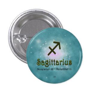 U Pick Color/ Sagittarius Zodiac Sign 3 Cm Round Badge