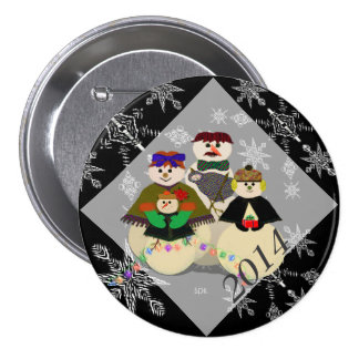 U Pick Color/ Snowman 3rd Baby's First Christmas 7.5 Cm Round Badge