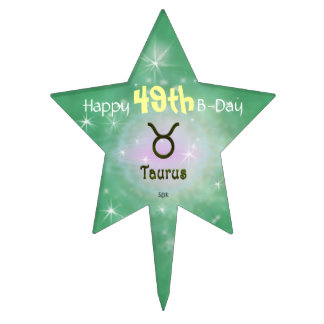 U Pick Color/ Taurus Customize with Age Cake Topper