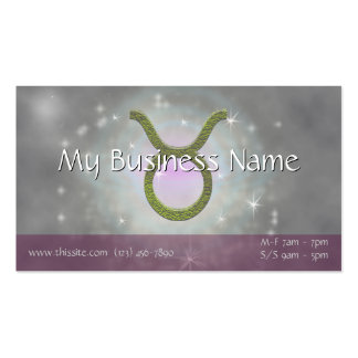 U Pick Color/ Taurus Zodiac Sign Personalize Pack Of Standard Business Cards