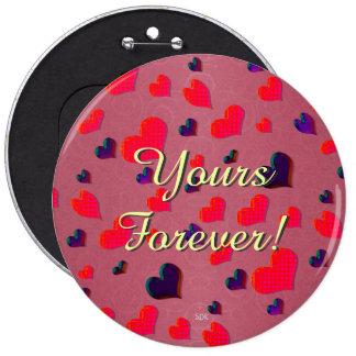 U Pick Color/Valentine's Day Fluttering Hearts Pinback Buttons