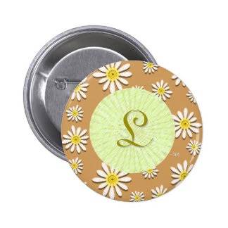 U-pick Color/ Whimsical Wildflower Daisy Sprinkles 6 Cm Round Badge