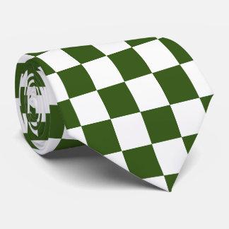 U-pick Color White Checkered Tiles Tie
