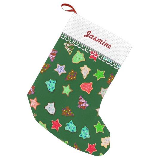 U Pick Colour/ Christmas Holiday Cookies Small Christmas Stocking