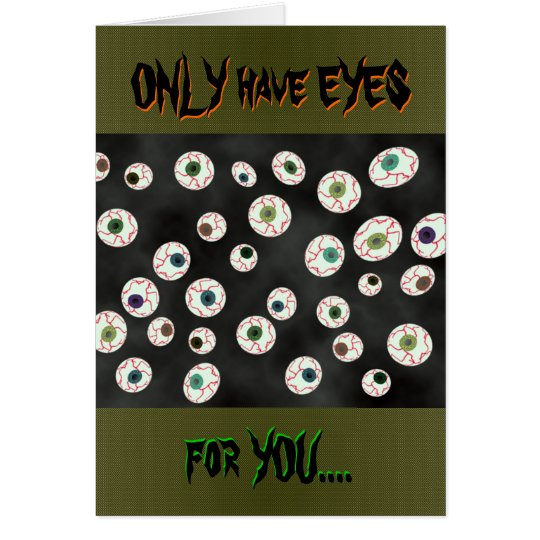 U Pick Colour/ Floating Eye Ball Candy Card